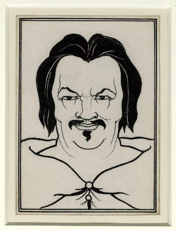 """Обри Бердслей. Портрет Бальзака. Иллюстрация к """"Сцены парижской жизни"""""""