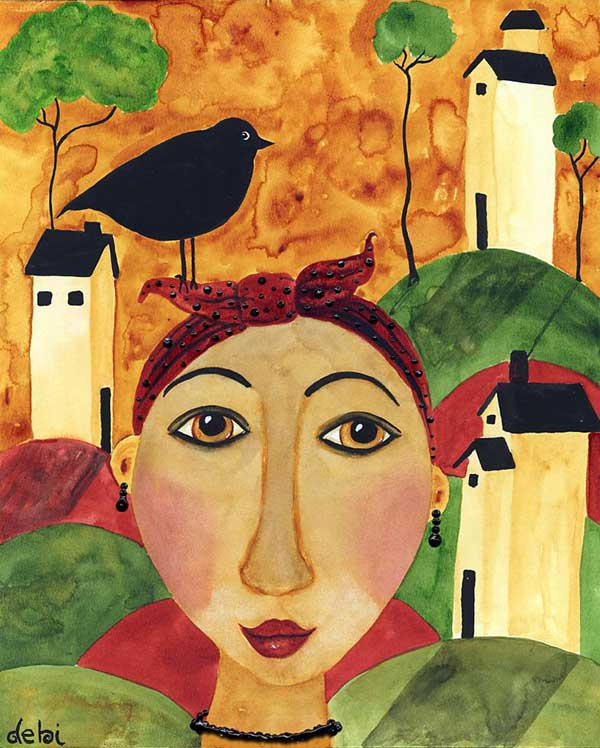 Деби Хаббс. Женщина и ворона