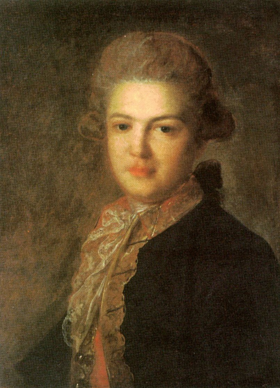 Fedor Stepanovich Rokotov. Portrait gr. Artemiy Ivanovich Vorontsov