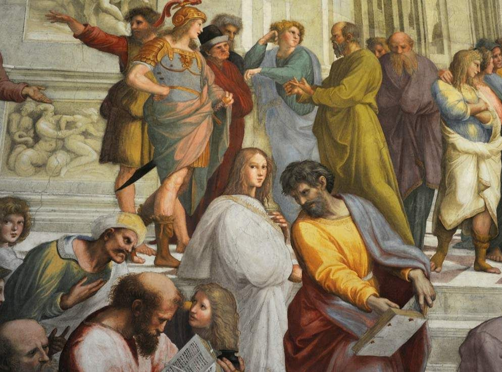 an analysis of the school of athens a fresco by rafael sanzio Analysis of raphael´s painting the school of athens essay - the school of athens (figure 1) is a fresco painting-a painting done in sections in the fresh plaster-on one of the four walls of the room, the stanza della segnatura this room is designated as papal library in the vatican palace.