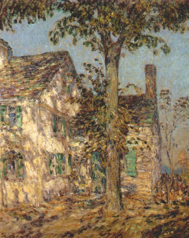 Childe Hassam. Sunlight, the old house