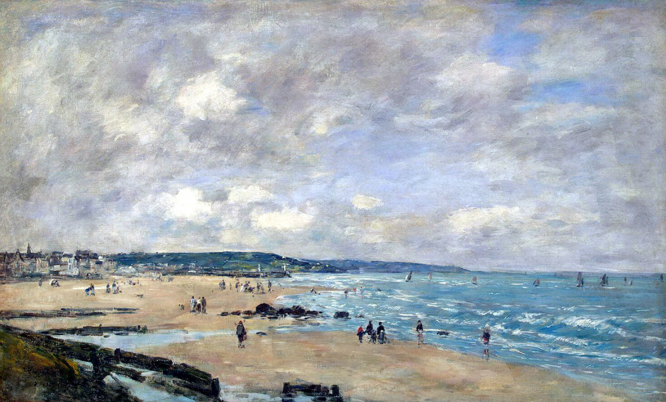 Eugene Boudin. The beach at Trouville