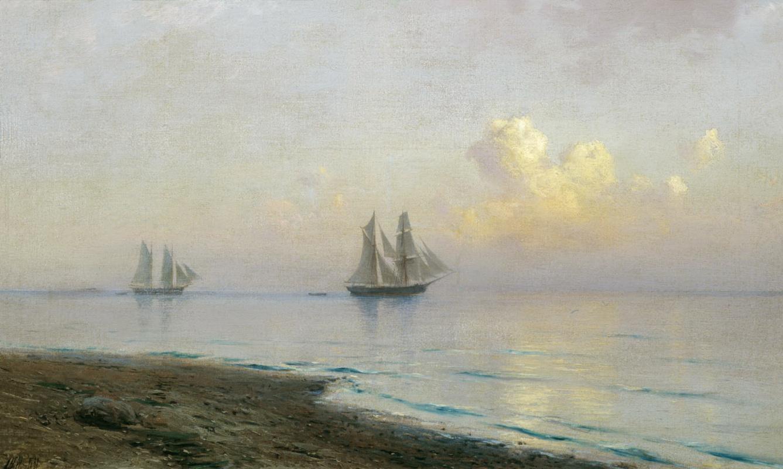 Лев Феликсович Лагорио. Морской пейзаж с парусниками