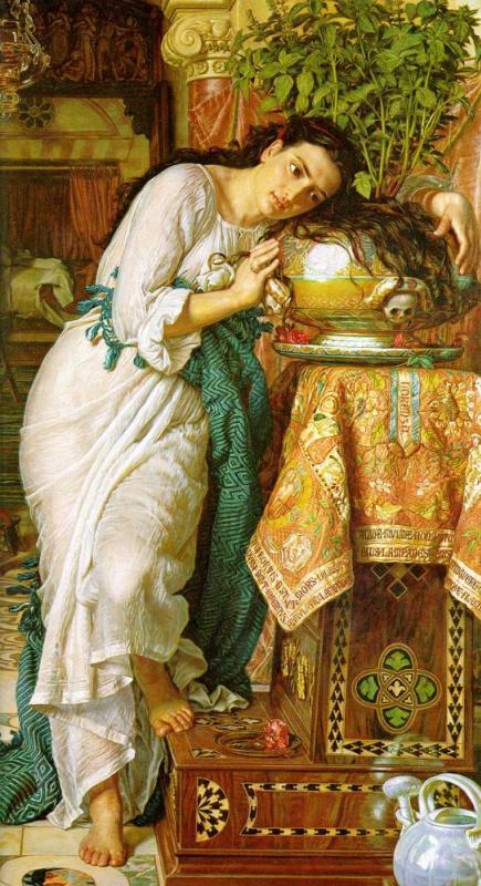 Уильям Холман Хант. Изабелла и горшок с базиликом