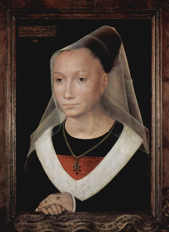 Hans Memling. Portrait of a young woman (Larin Morel)