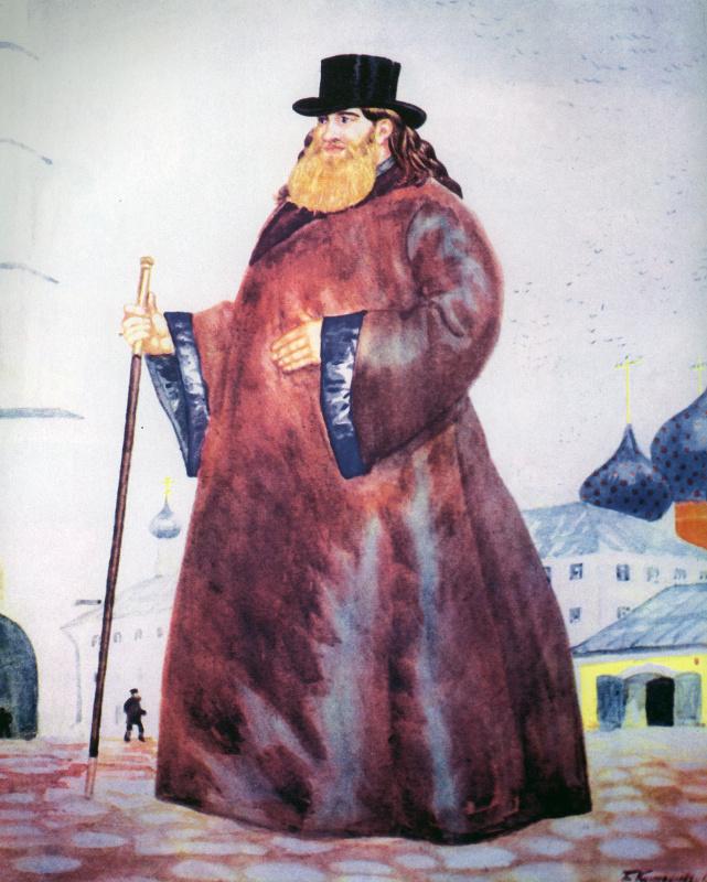 """Борис Михайлович Кустодиев. Священник. Из серии """"Русь. Русские типы"""""""