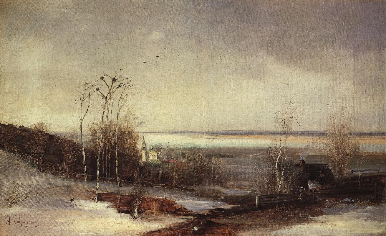 Alexey Savrasov. Early spring. Given