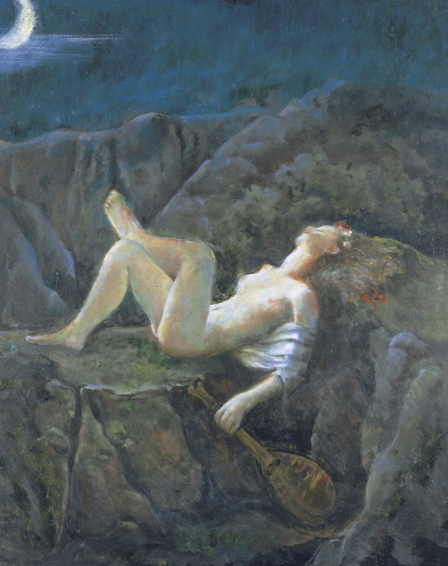 Balthus (Balthasar Klossovsky de Rola). A dream in a summer night
