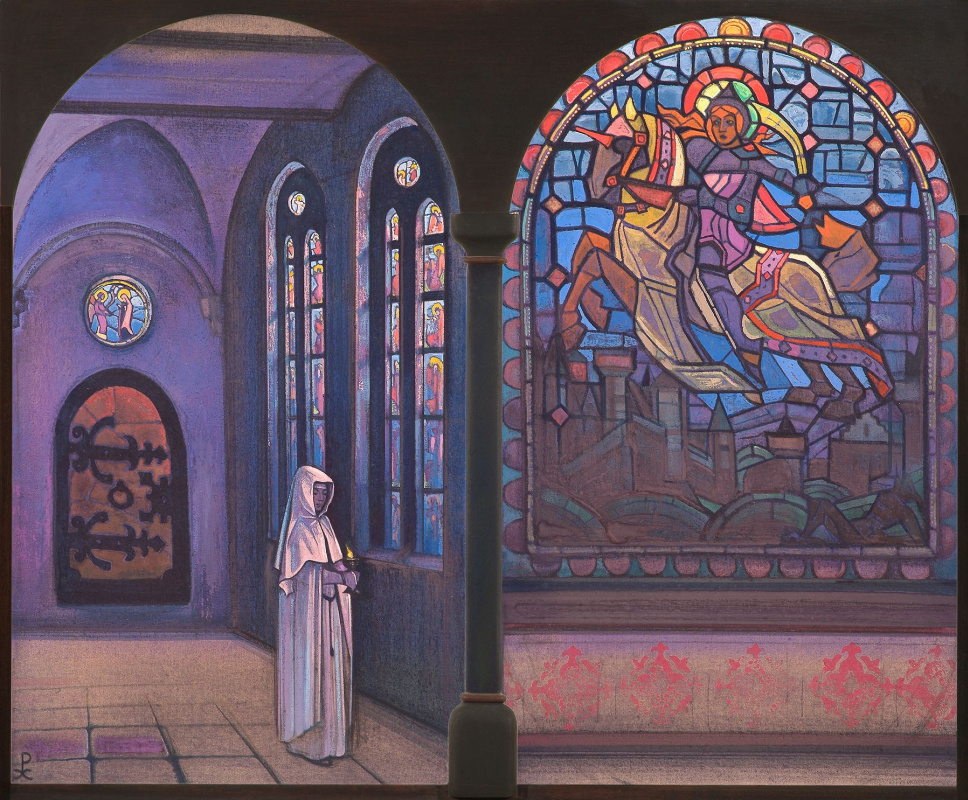 Nicholas Roerich. Glory to the hero. Diptych