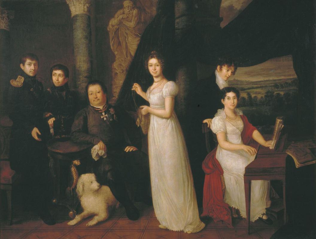 Vasily Andreevich Tropinin. Family portrait of counts Morkov
