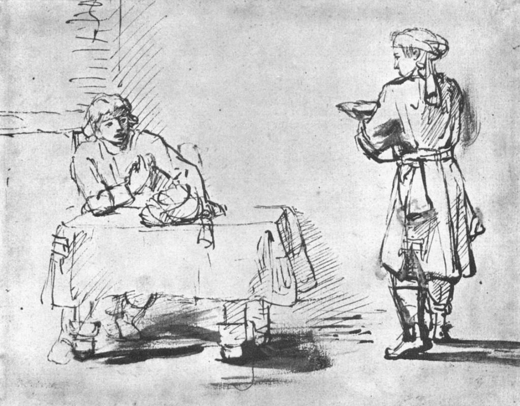 Рембрандт Ван Рейн. Исав продает свое первородство