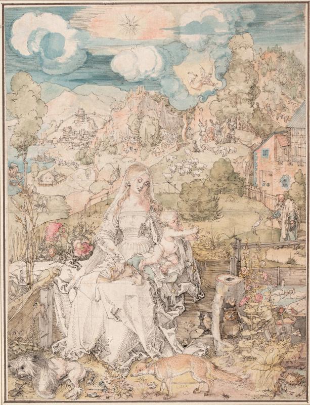 Альбрехт Дюрер. Богородица с Иисусом среди животных