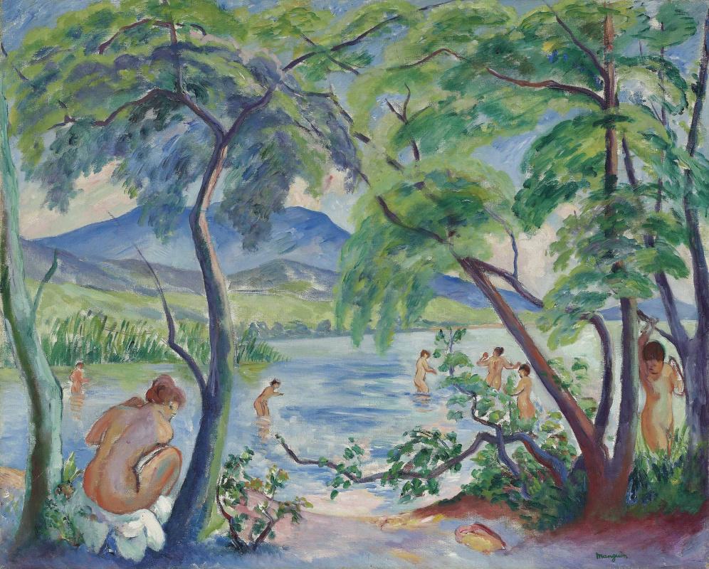 Henri Manguin. Landscape with bathers, Colombier