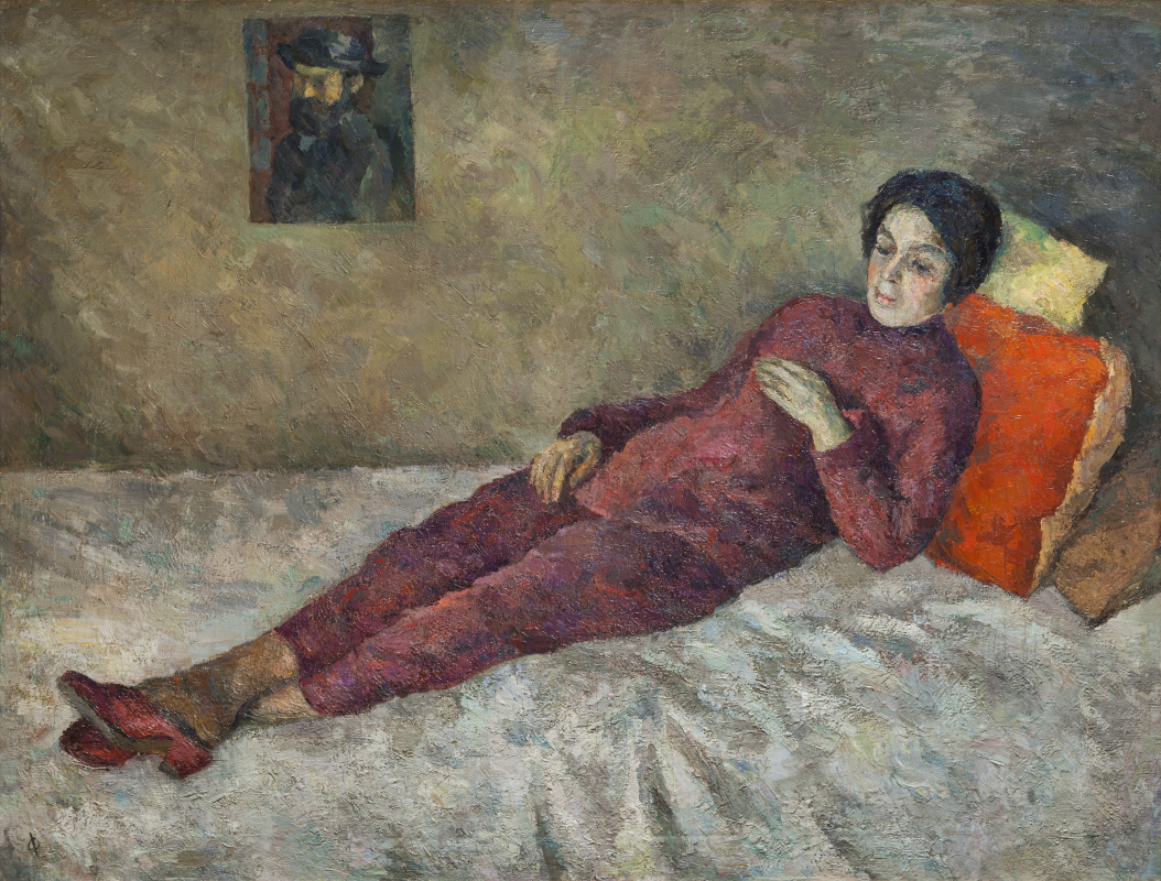 Robert Rafailovich Falk. A woman, lying under the painting