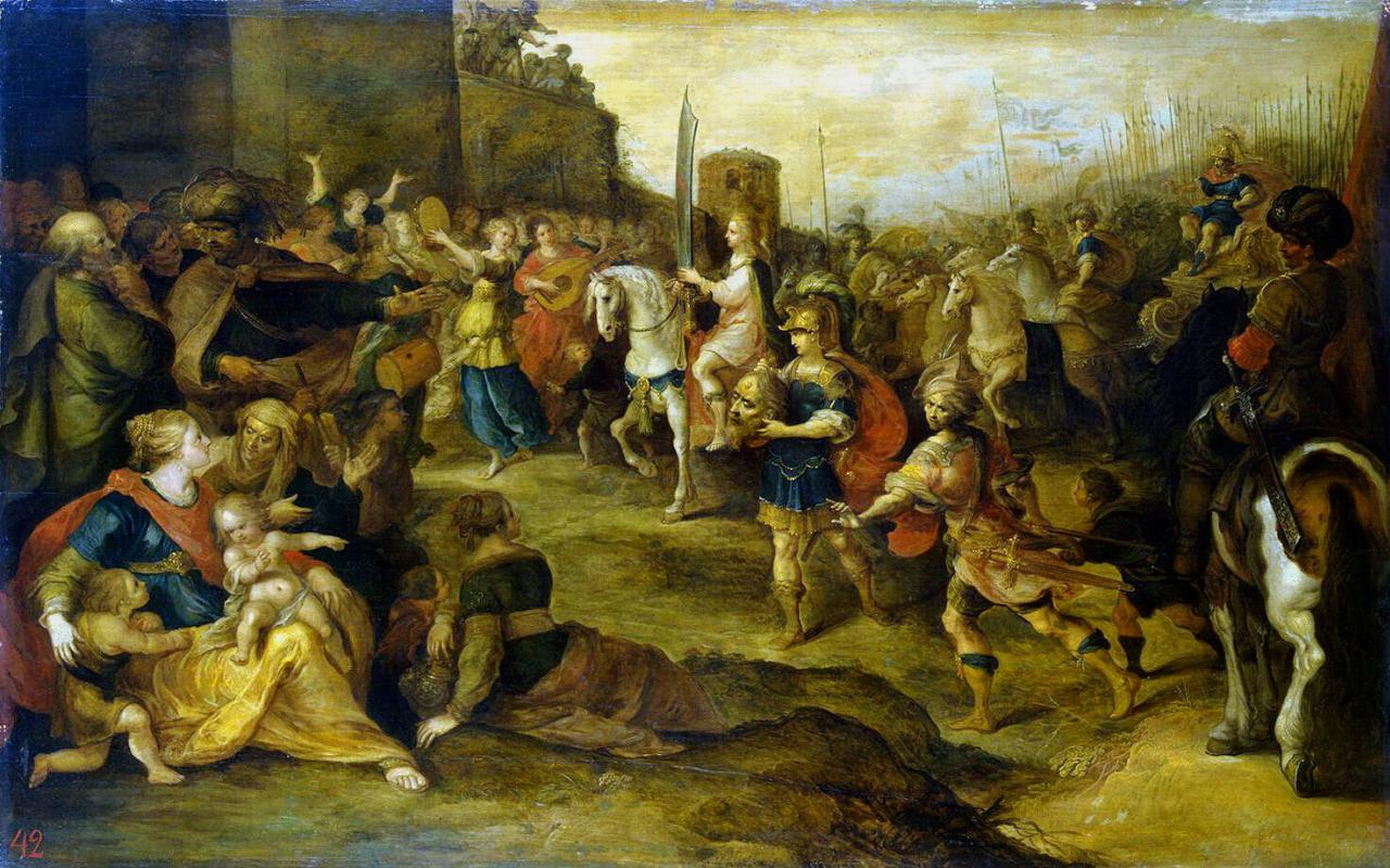 Франс Франкен. Вход Давида в Иерусалим