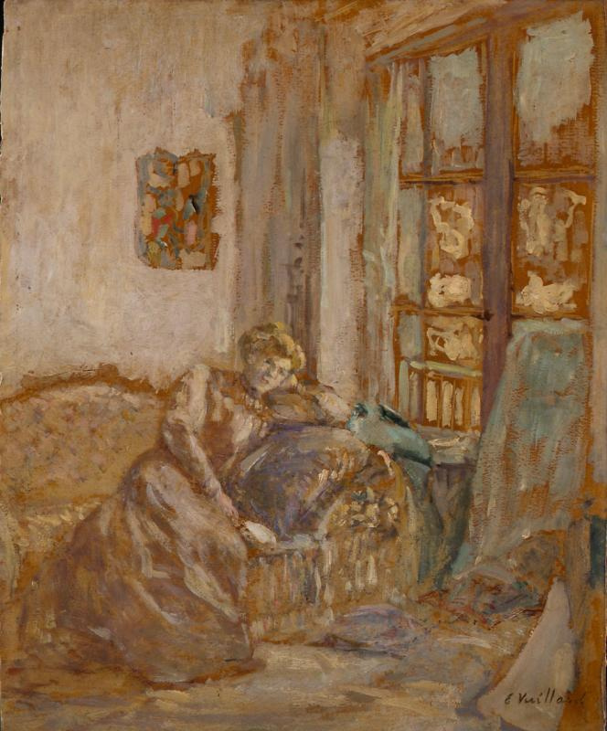 Jean Edouard Vuillard. Window (Interior. Woman at the window)