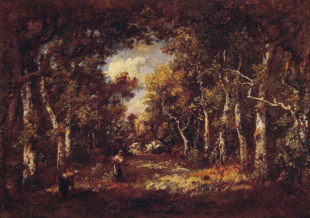 Нарсис Виржилио Диас де ла Пёнья. Прогулка в лесу