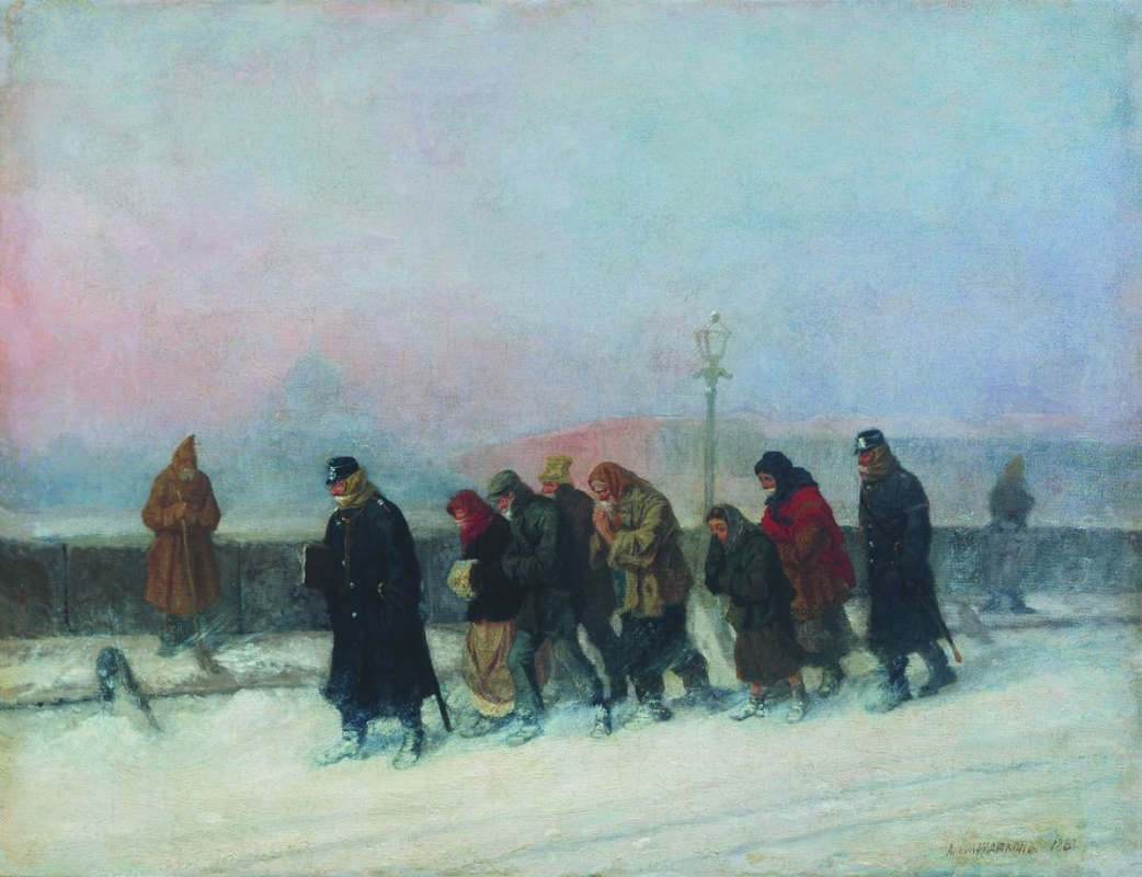 Leonid Ivanovich Solomatkin. Forwarding the arrested