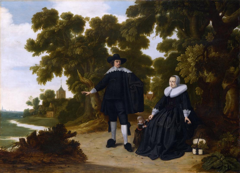 Донкк Г.. Портрет Яна ван Хенсбик, его жены и ребенка