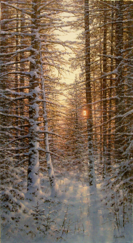 German Aleksandrovich Kulikov. Winter evening.