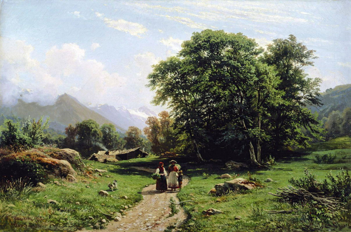 "Ivan Ivanovich Shishkin. The Swiss landscape. A variant of the painting ""View near Dusseldorf"""