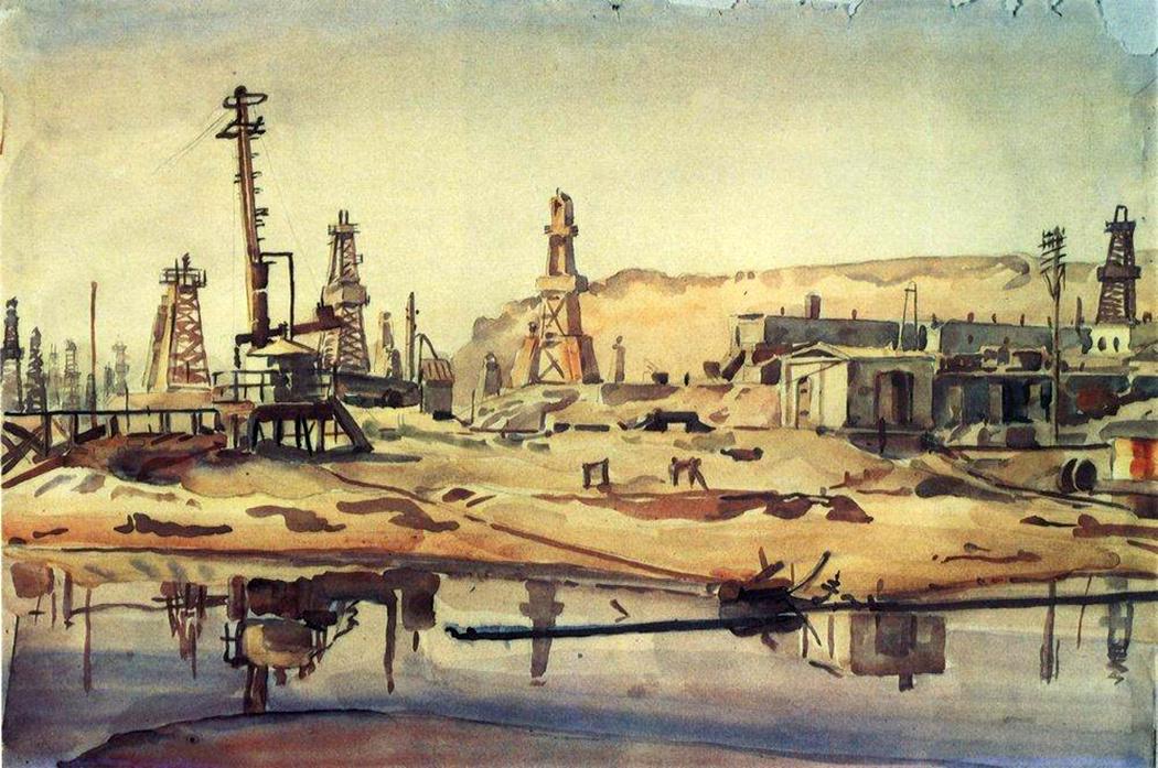 Konstantin Fedorovich Bogaevsky. The Baku oil derrick