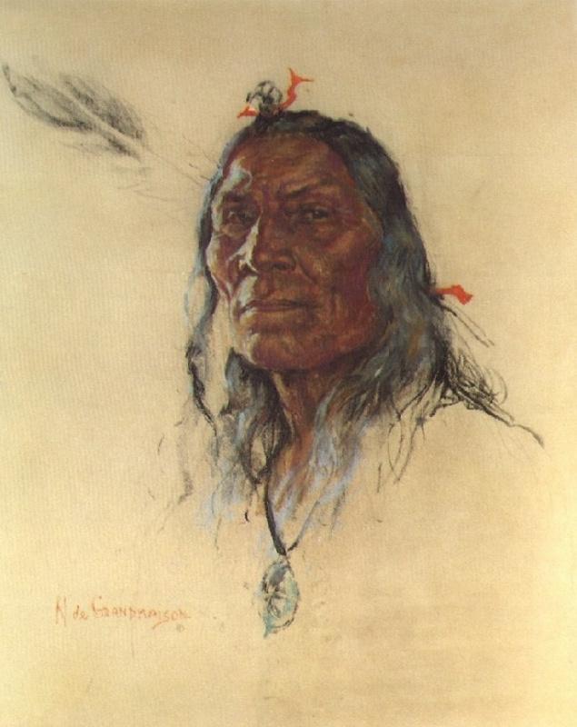 Индейский портрет 57