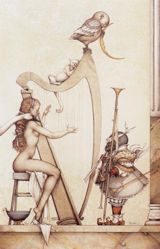 Michael Parkes. Lunar harp