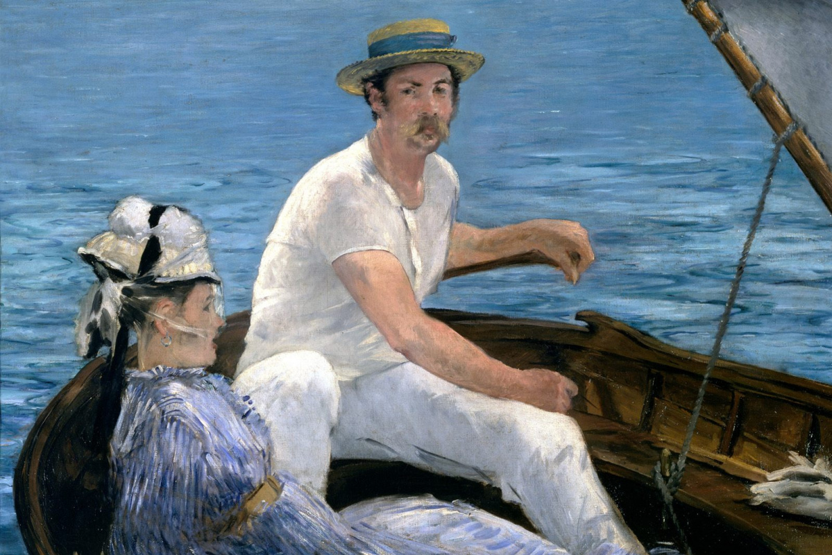 Edouard Manet. In the boat