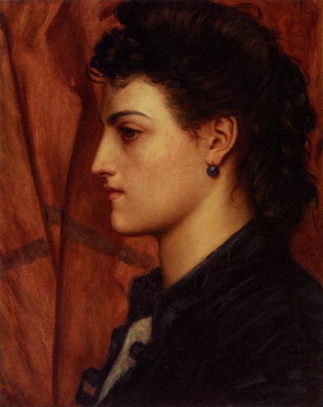Валентин Принсеп. Профиль женщины