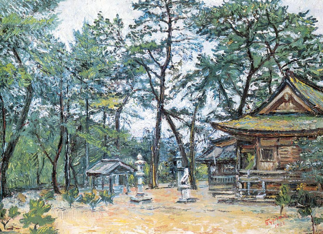 David Davidovich Burliuk. Temple gate in Japan