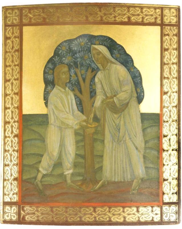 Михаил Львович Бойчук. Двое под деревом.