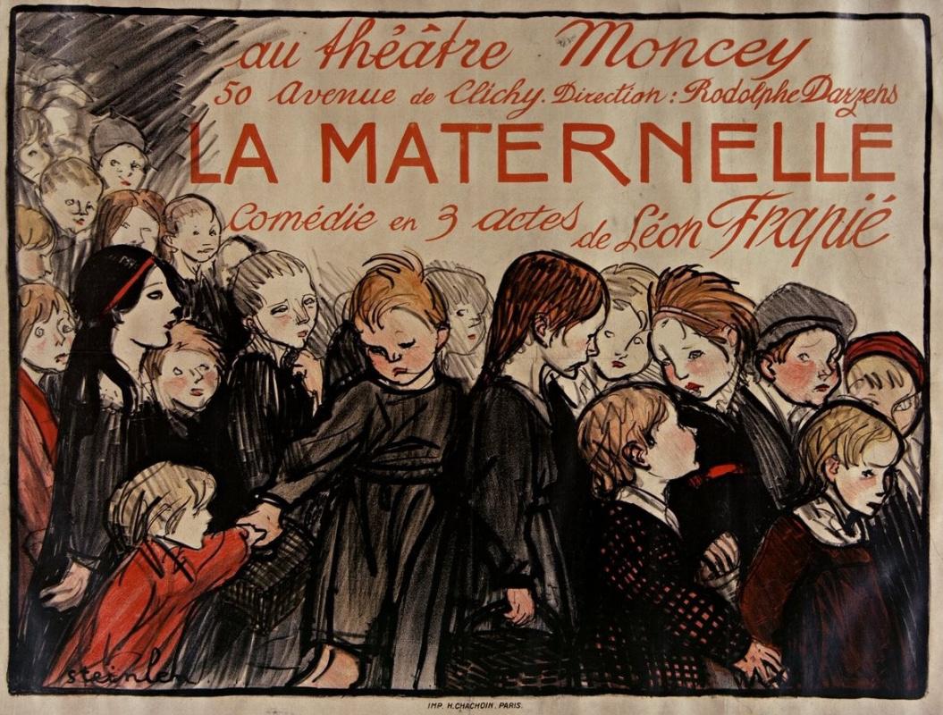 """Theophile-Alexander Steinlen. """"Kindergarten"""". Comedy in 3 acts"""