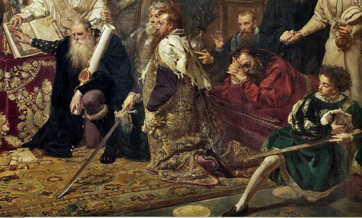Ян Матейко. Люблинская уния. Фрагмент II