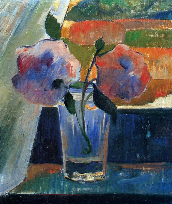 Якоб де Хаан. Цветы в стакане
