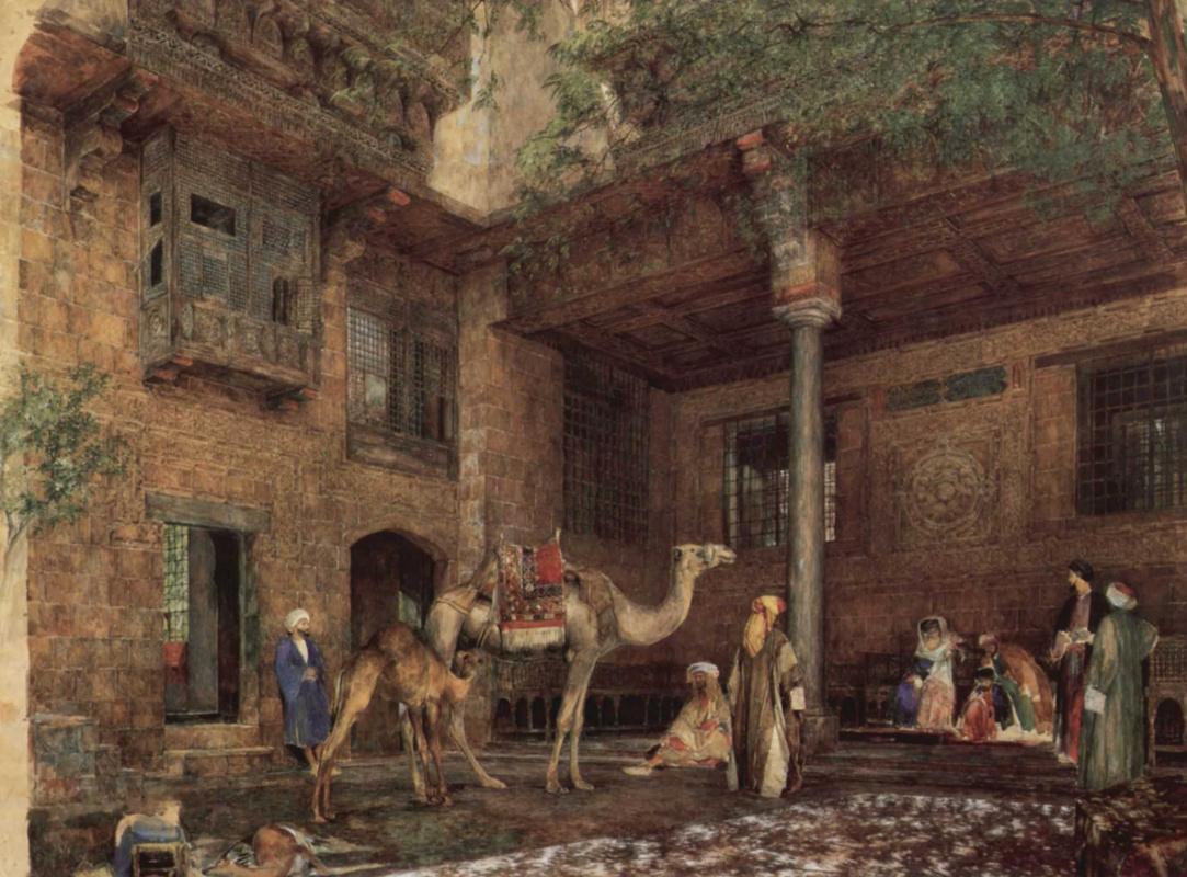 Джон Фредерик Льюис. Двор дома художника в Каире