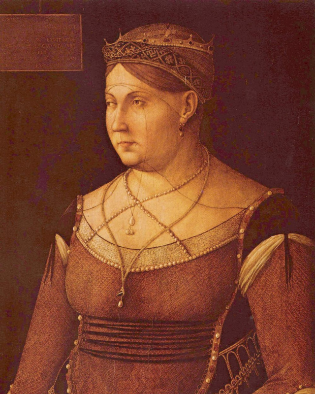 Gentile Bellini. A portrait of the Queen of Cyprus Catherine Cornaro
