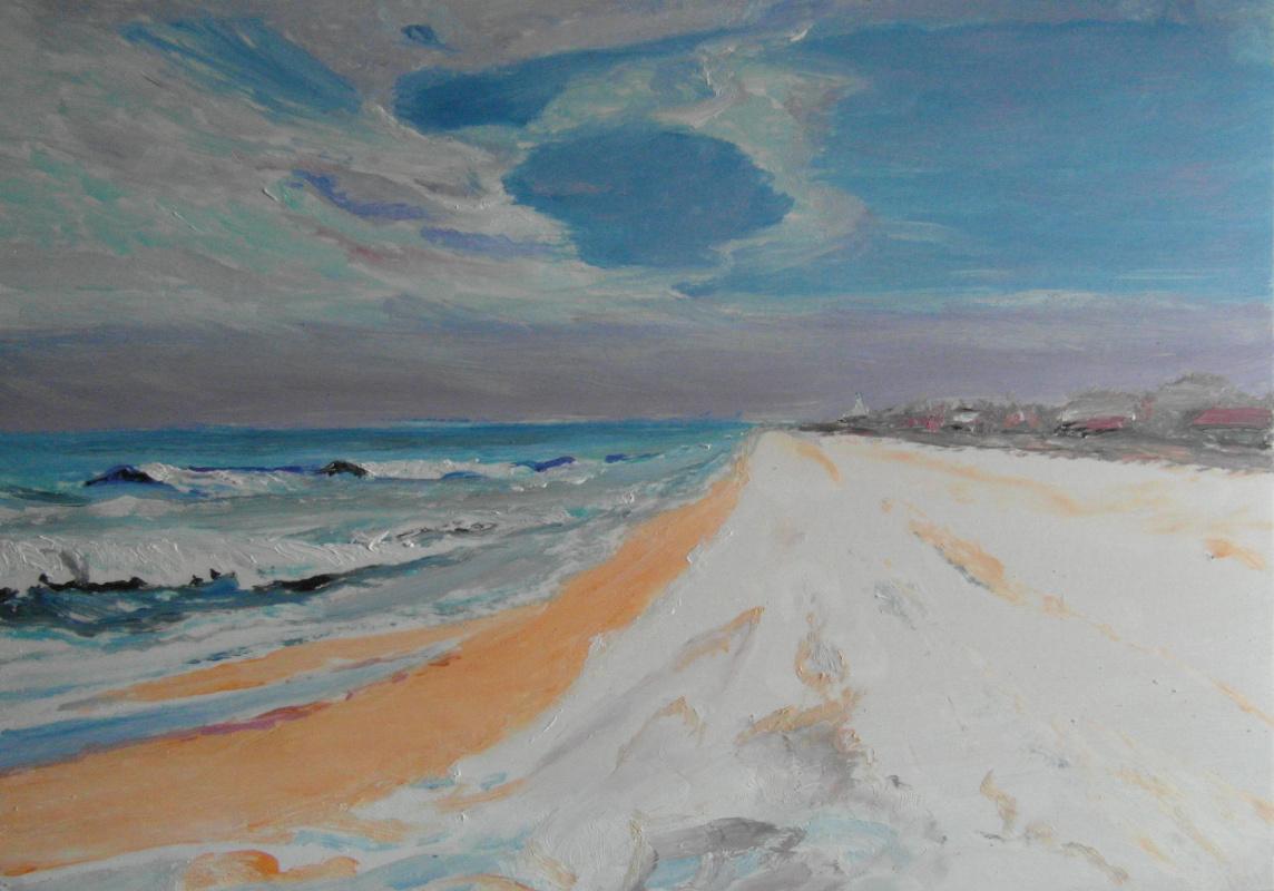 Valery Bronnikov. Beach in the storm