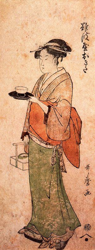 Китагава Утамаро. Окита - девушка из чайной