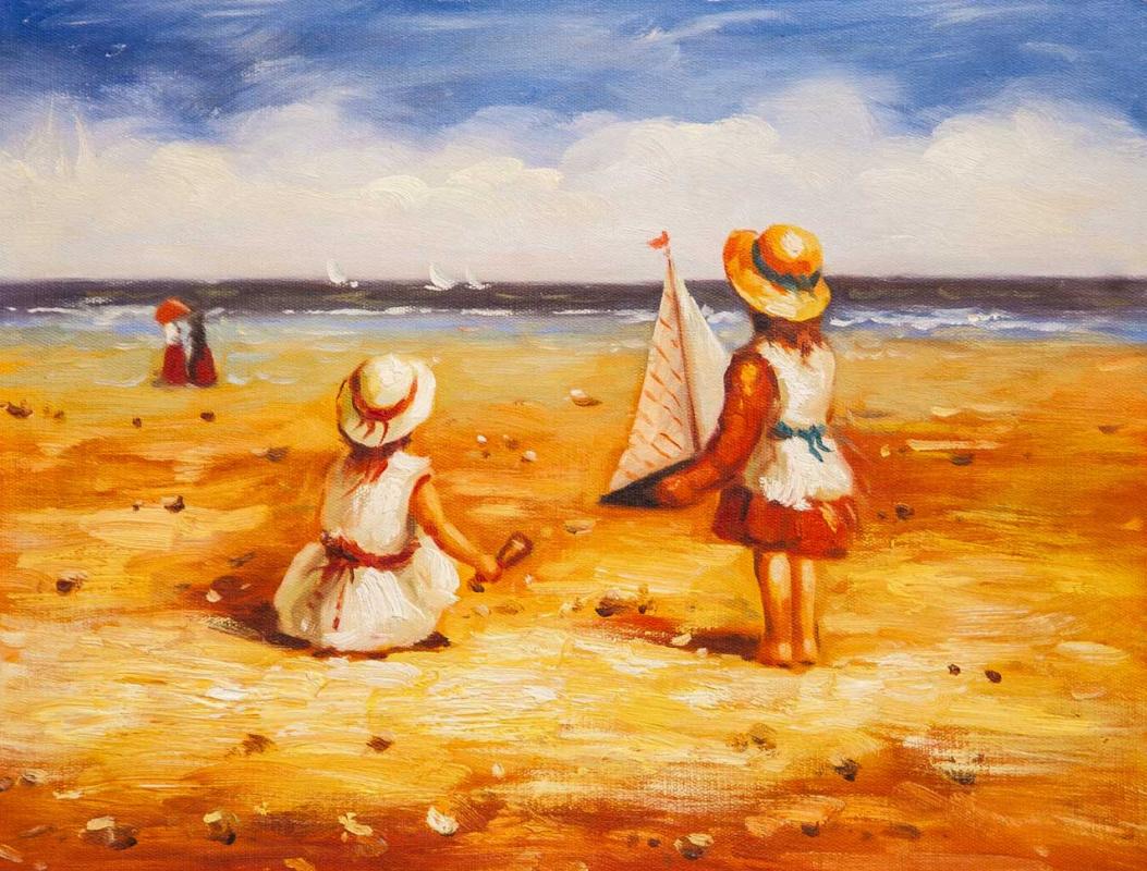 Maria Potapova. Дети на пляже N3