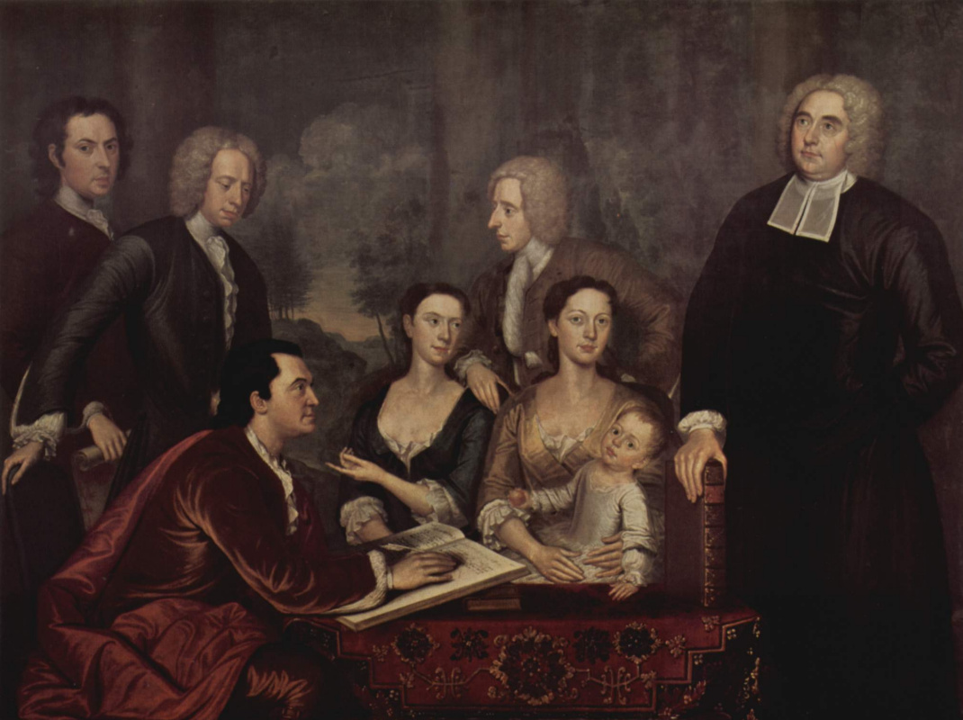 John Smybert. Portrait of Dean George Berkeley with his family