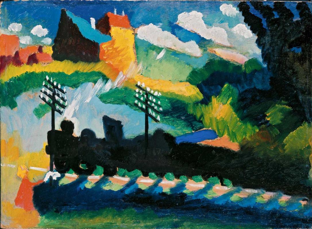 Wassily Kandinsky. Railway in Murnau