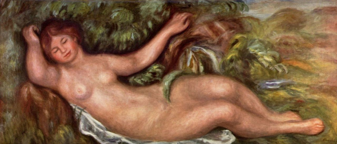 Pierre-Auguste Renoir. Reclining Nude