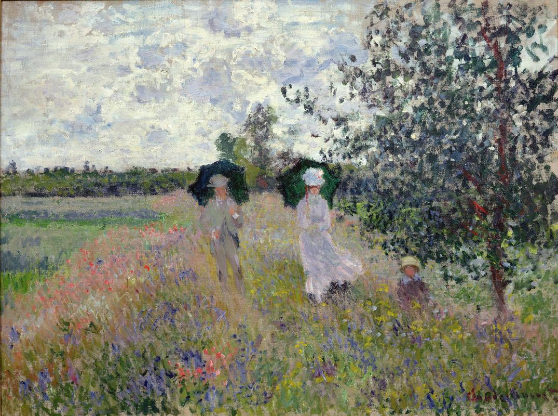 Claude Monet. The walk at Argenteuil