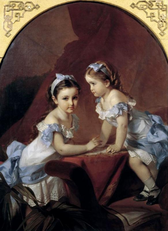 Девочки-сестры. Портрет Лизы и Наташи Араповых