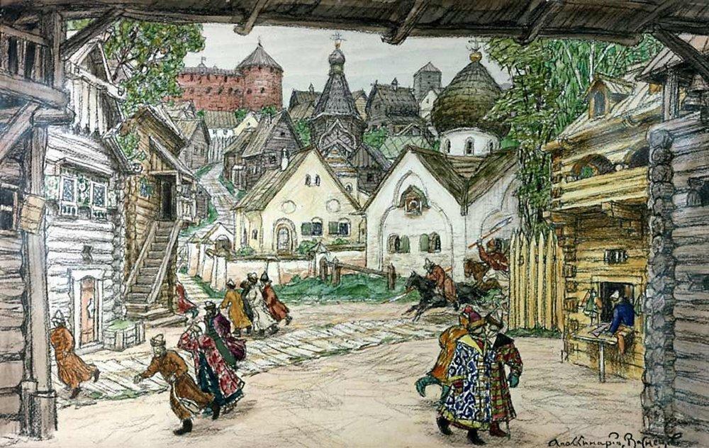 Apollinarius Mikhailovich Vasnetsov. The area in front of the Church