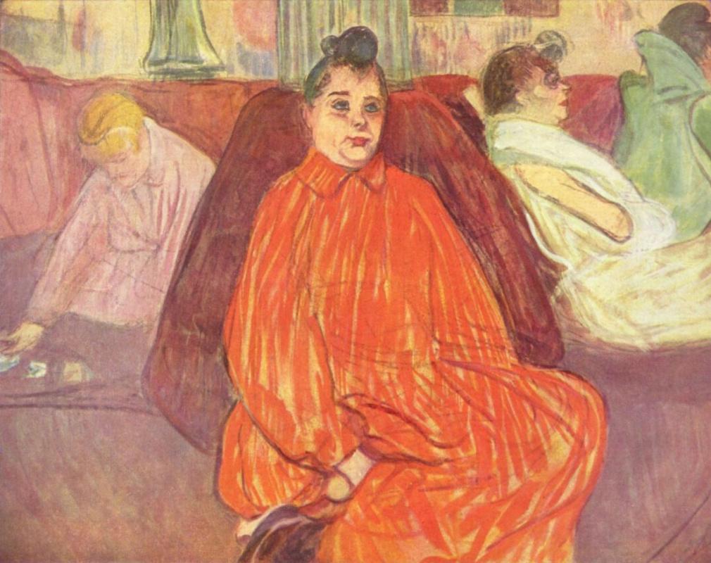 Henri de Toulouse-Lautrec. In the salon Divas