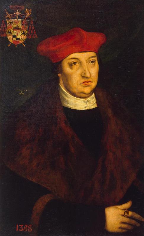 Лукас Кранах Старший. Портрет кардинала Альбрехта Бранденбургского