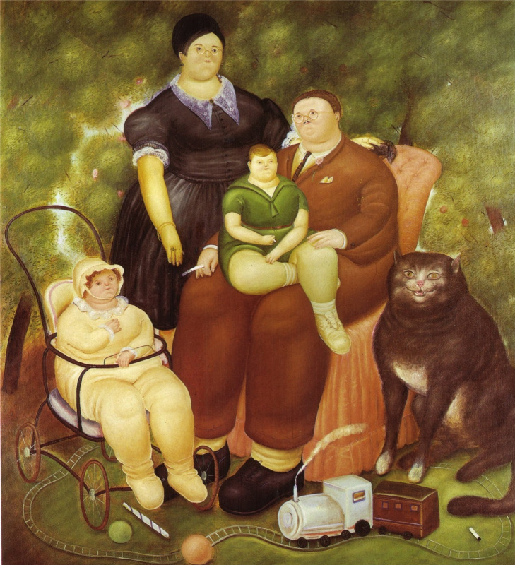 Fernando Botero. Family scene
