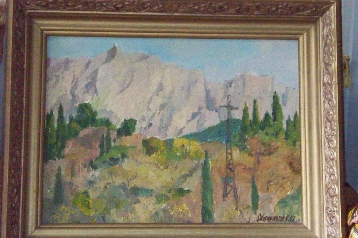 Svyatoslav Petrovich Skorobogatov. Crimean landscape